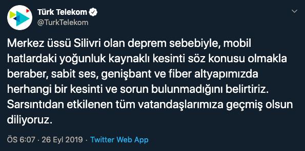 türk-telekom-istanbul-deprem-açıklaması