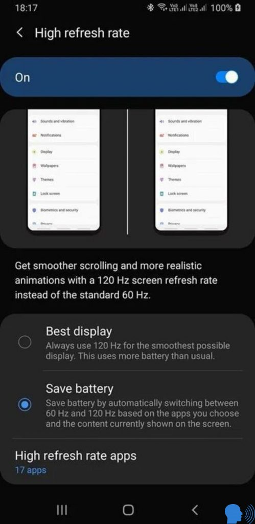 Samsung Galaxy S11 120 Hz