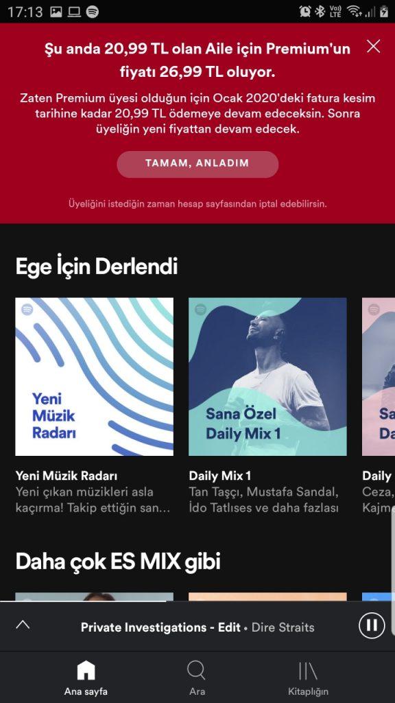 Spotify Ücretleri