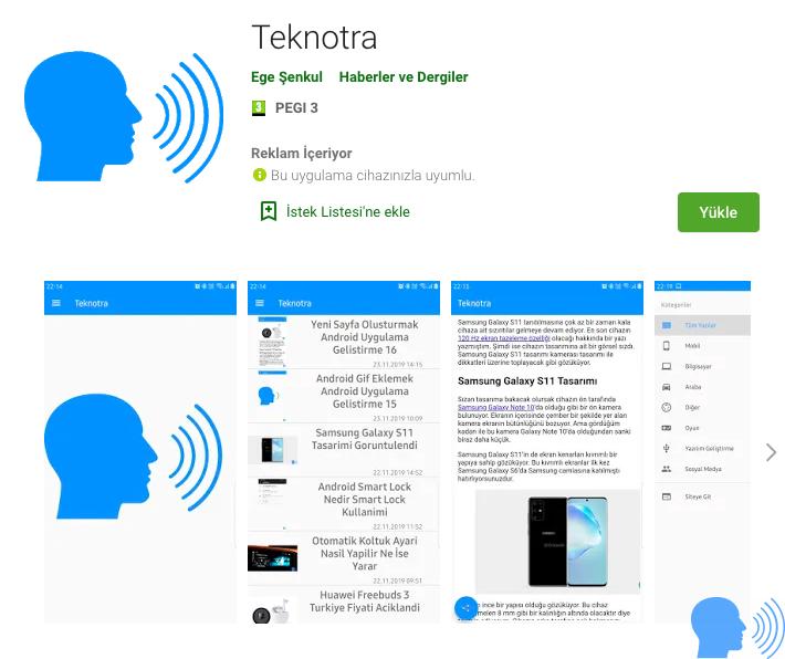 teknotra android uygulaması