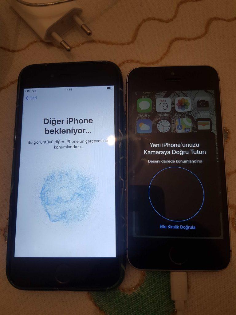 eski iphonedan yeni iphonea