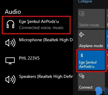 Windows 10 AirPods Kullanmak
