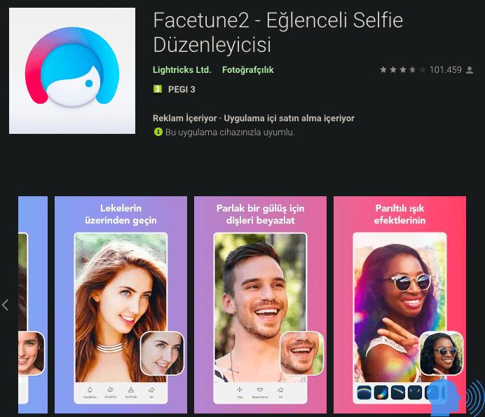 facetune2 selfie edit programı